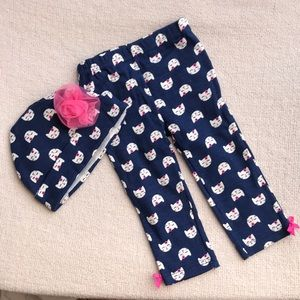 Other - Baby girl pants and hat